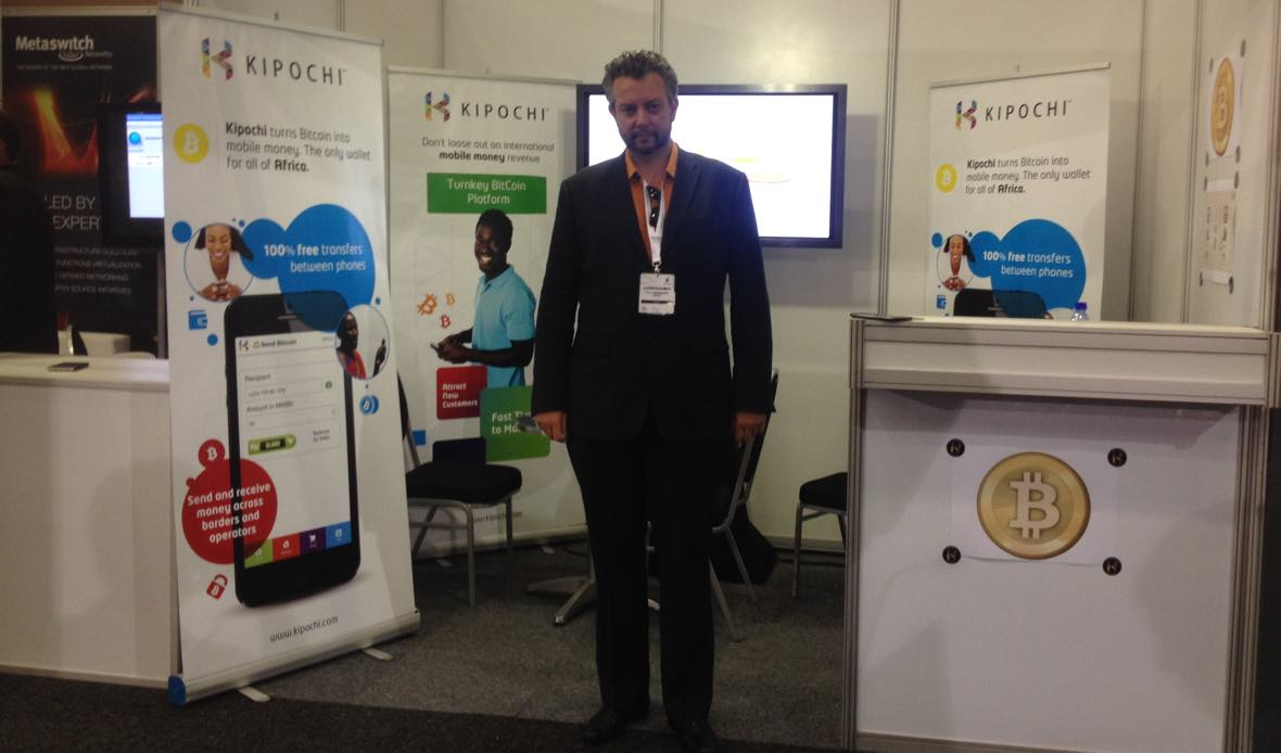 At AfricaCom 2013 selling Bitcoin to Telcos